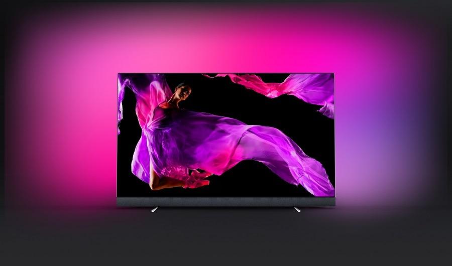 oled 903 frontal - Philips OLED+ 903 e Philips OLED 803, novas TVs com Ambilight são apresentadas na IFA 2018