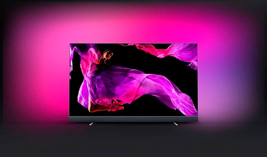 philips oled903 televisor 01 - Philips OLED903, uma TV OLED com barra de som da Bowers & Wilkins
